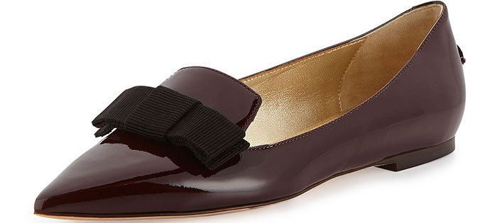 "Jimmy Choo ""Gala"" Patent Bow Loafers in Mirto"