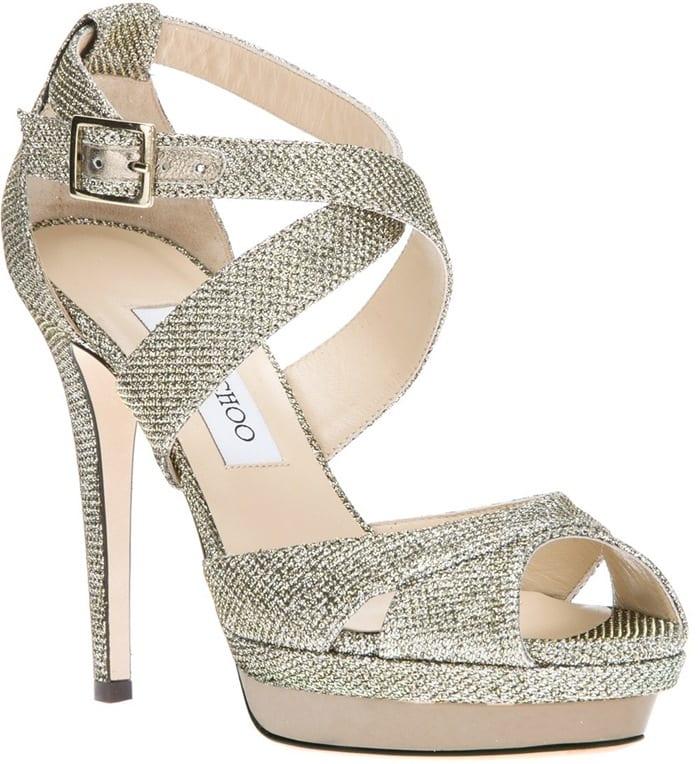 Jimmy Choo Silver Kuki Sandal