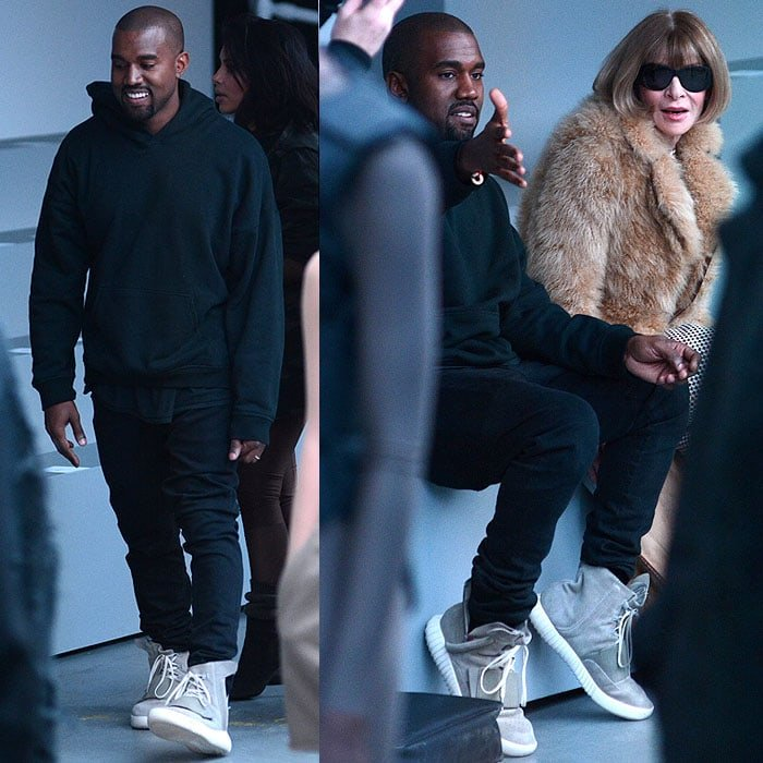 Kanye West chats with Anna Wintour
