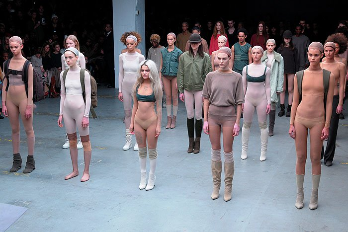 Looks at the Adidas Originals x Kanye West Yeezy fashion show