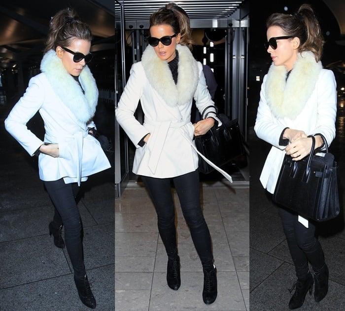 Kate Beckinsale leaves London