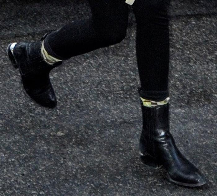 Kendall Jenner's Anouck boots by Alexander Wang