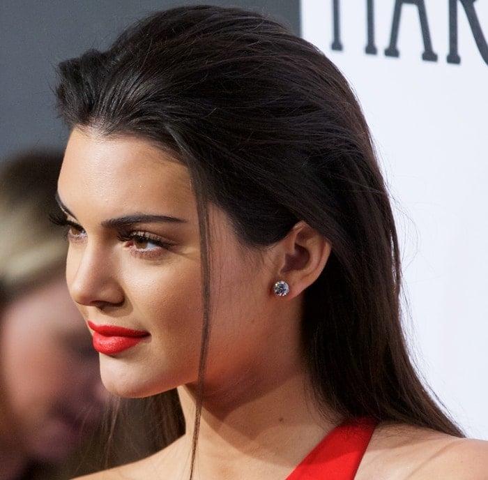 Kendall Jenner at the 2015 amfAR New York Gala