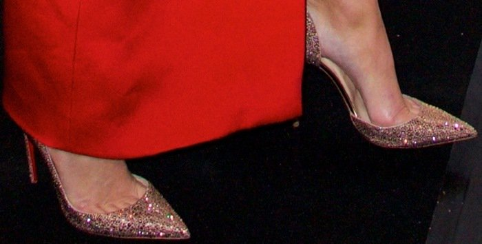 Kendall Jenner put her feet on display in Christian Louboutin pumps