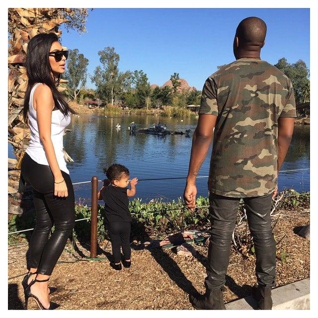 Kim Kardashian visits a wildlife park in Glendale, Arizona, with Kanye West and North West