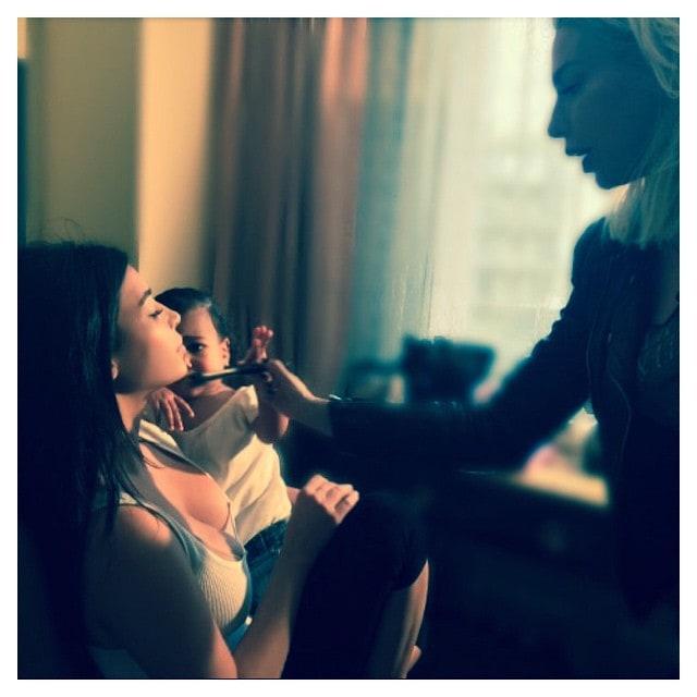 "Kim Kardashian's Instagram: ""Mommy getting ready for the Super Bowl!"""