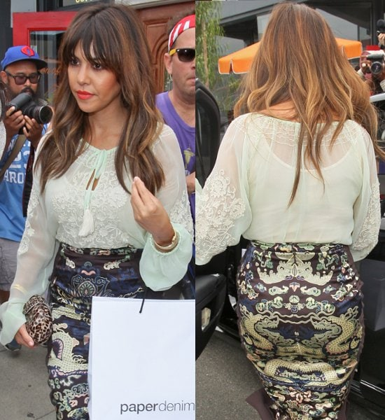 Kourtney Kardashian attends the Paper Denim & Cloth and Baby2Baby Luncheon at Son Of A Gun
