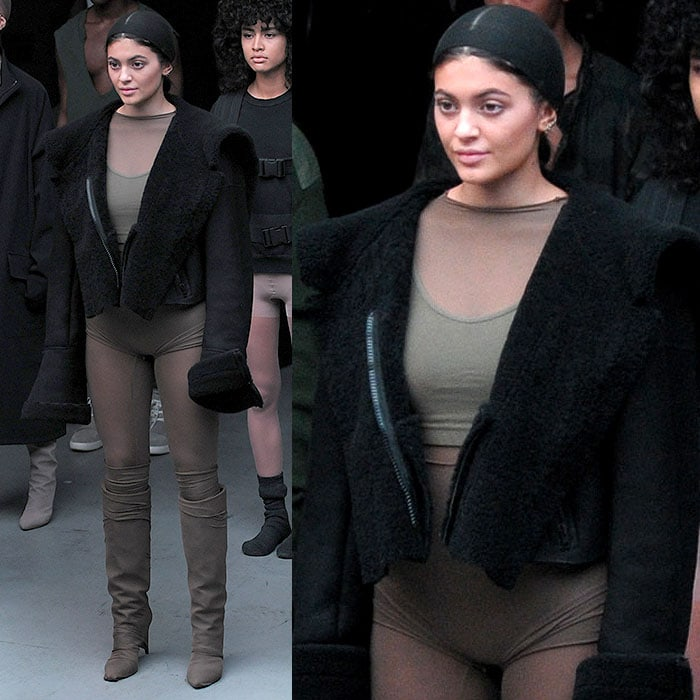 Kylie Jenner at the Adidas Originals x Kanye West Yeezy fashion show held during New York Fashion Week Fall 2015