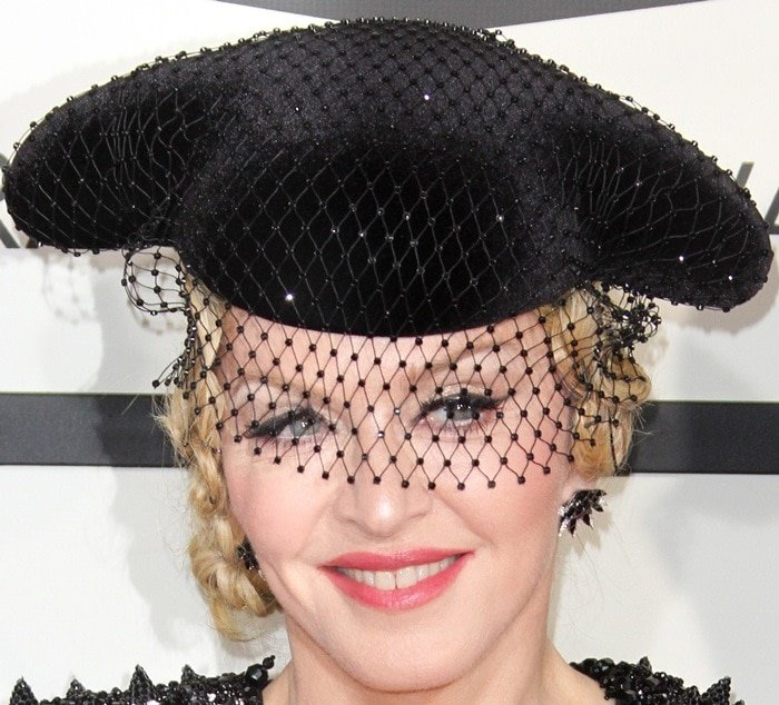 Madonna on the red carpet at the 2015 Grammy Awards held at the Staples Center in Los Angeles on February 8, 2015