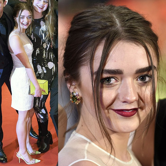 "Maisie Williams at the ""As We Were Dreaming"" premiere during the 65th Berlinale International Film Festival at Berlinale Palace in Berlin, Germany, on February 9, 2015"