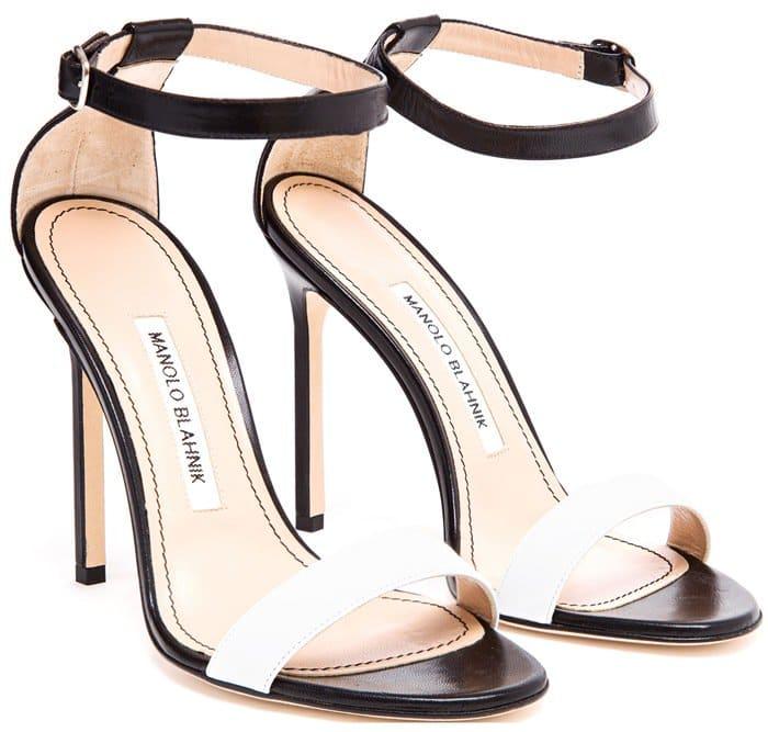 Manolo Blahnik Black Chaos Leather Sandals