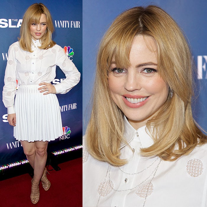 """Melissa George in all-white at the New York premiere of """"The Slap"""""""