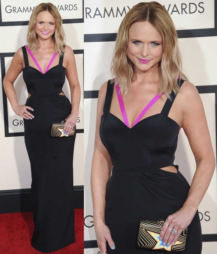 Miranda Lambert on the red carpet at the 2015 Grammy Awards