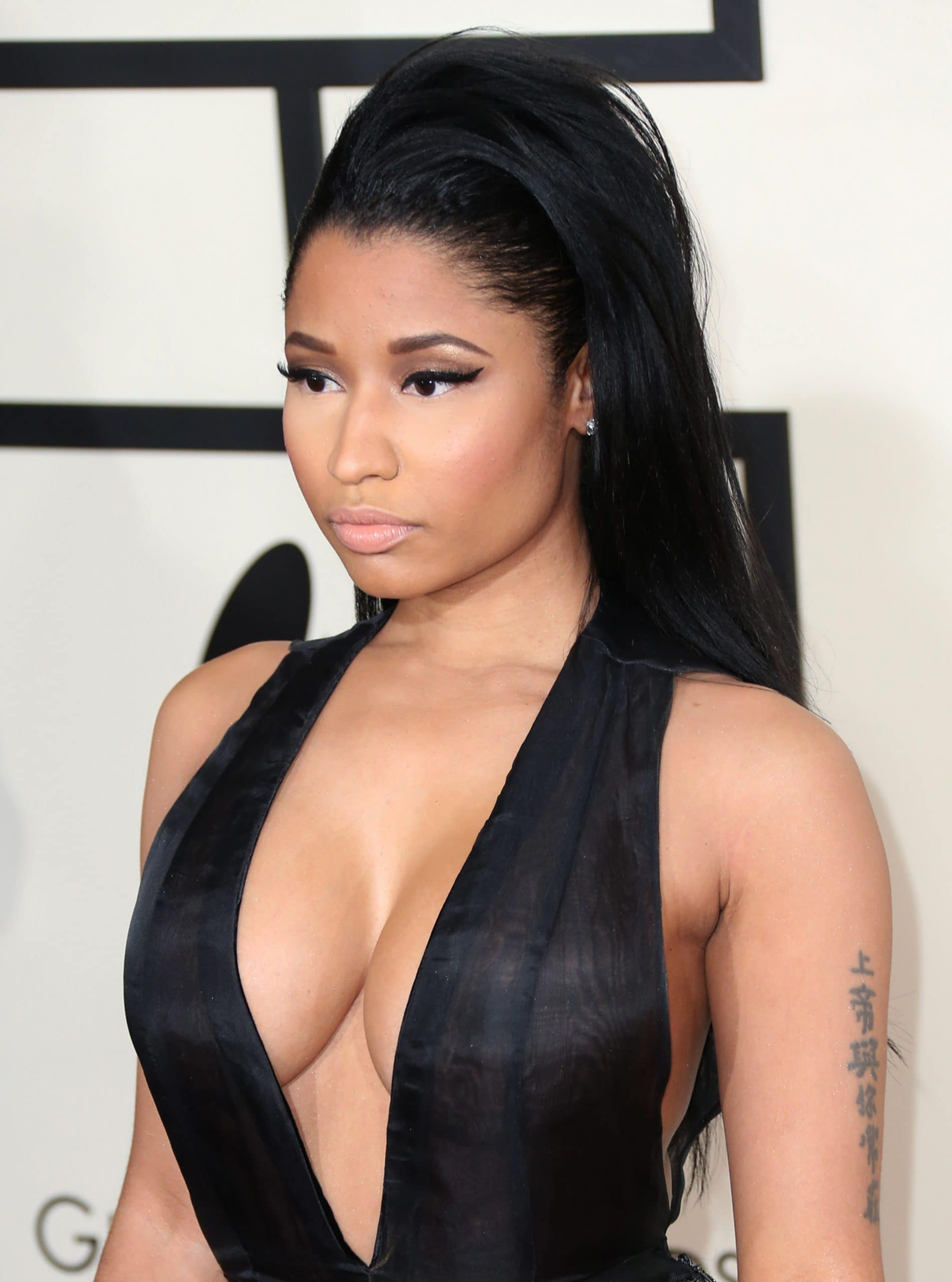 """Nicki Minaj was nominated at the 57th Grammy Awards for Best Rap Song for her single """"Anaconda"""" and Best Pop Duo/Group Performance for her joint single """"Bang Bang"""", with Jessie J and Ariana Grande"""
