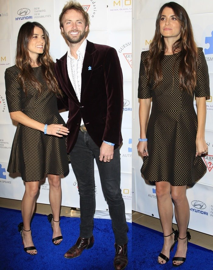 Nikki Reed and her hubby Paul McDonald at Autism Speaks' Blue Tie Blue Jean Ball at the Beverly Hilton Hotel in Beverly Hills on November 29, 2012