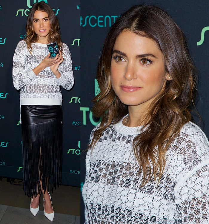 Nikki Reed highlighted her hazel eyes with dark eye shadow and longer lashes
