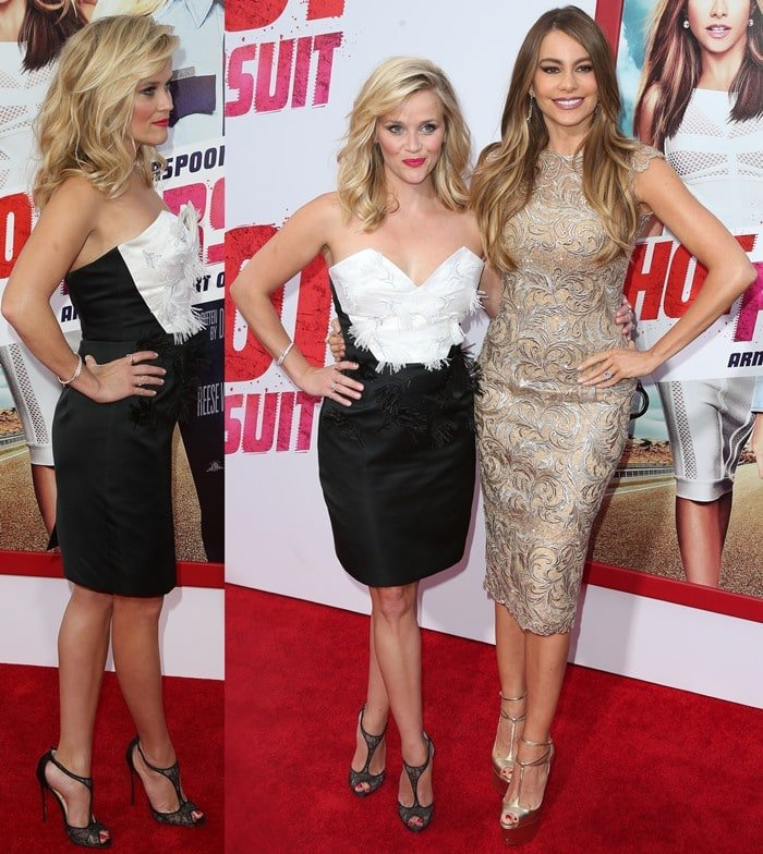 Reese Witherspoon and Sofia Vergara at the 'Hot Pursuit' Los Angeles premiere