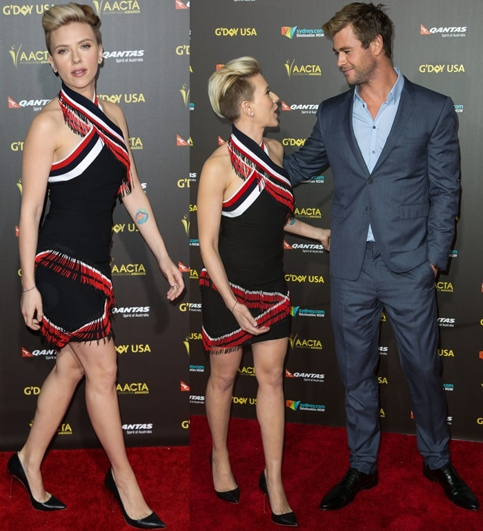 Scarlett Johansson andChris Hemsworth at the 2015 G'Day USA GALA featuring the AACTA International Awards at Hollywood Palladium on in Los Angeles on January 31, 2015