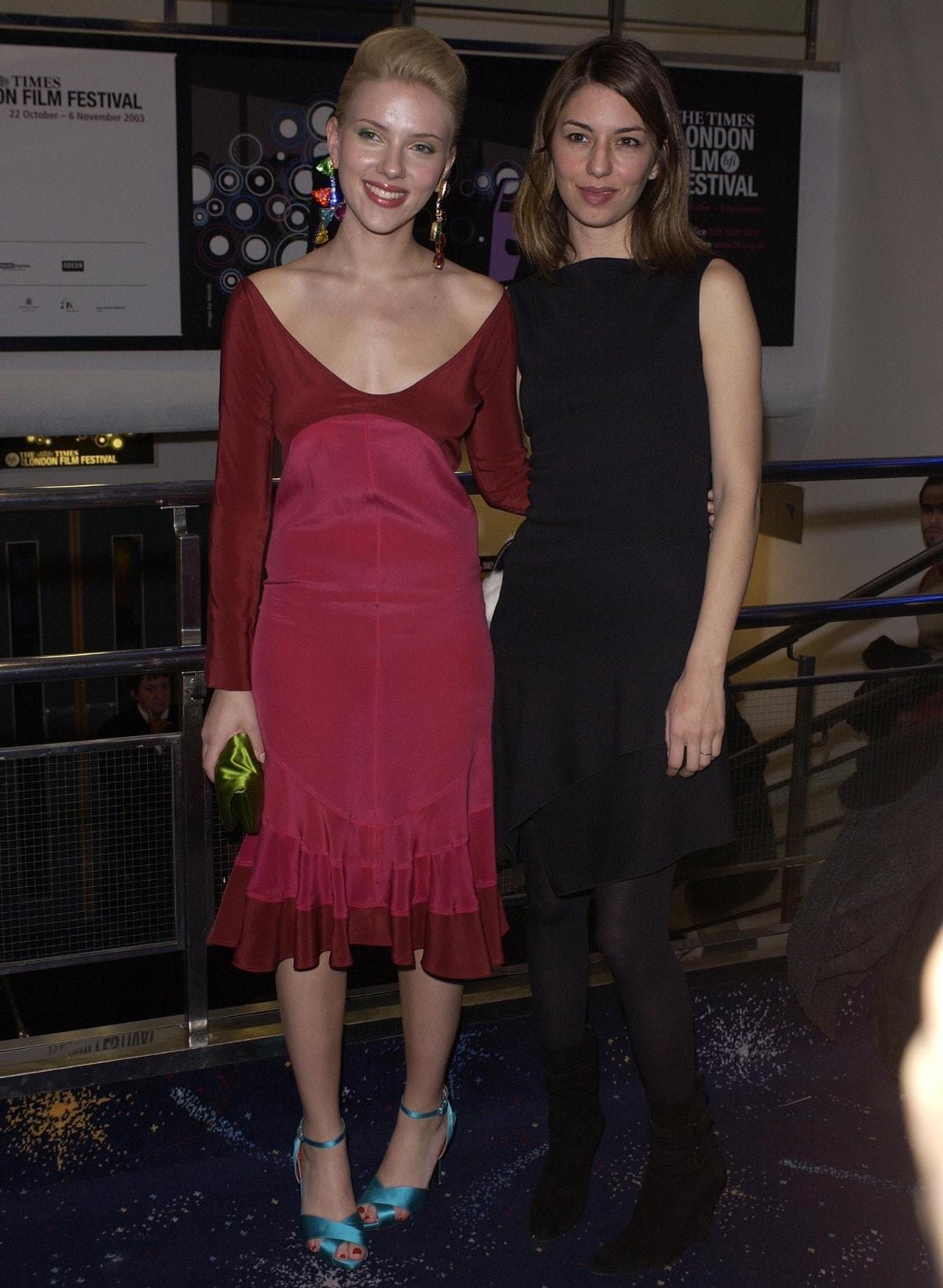 Scarlett Johansson and Sofia Coppola at the premiere of Lost In Translation