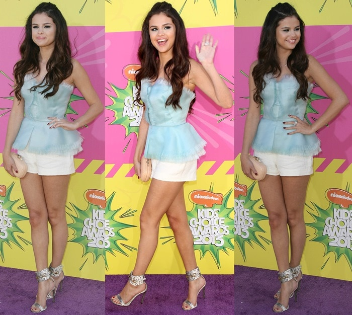 Selena Gomez at the 2013 Nickelodeon Kids' Choice Awards held at the USC's Galen Center in Los Angeles on March 23, 2013