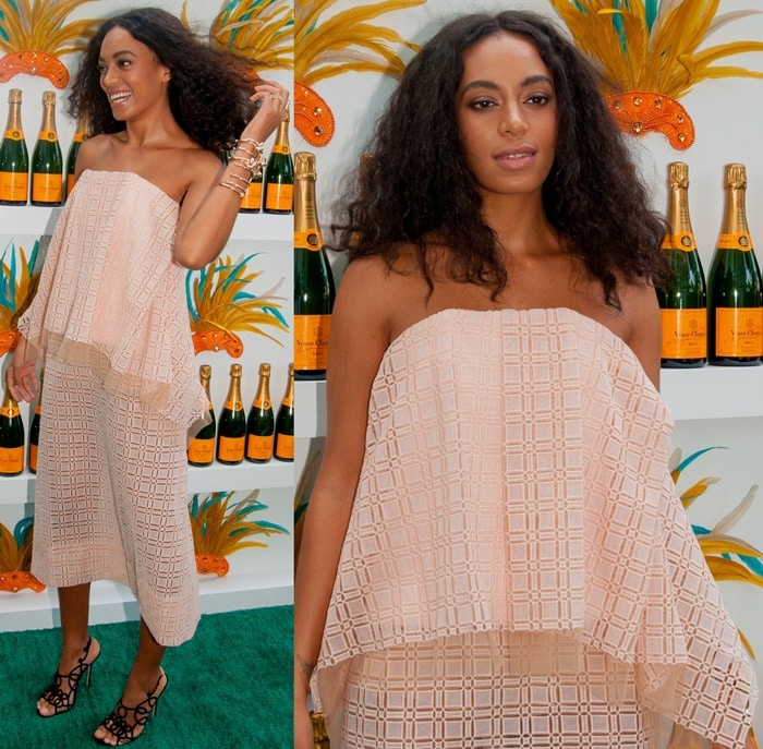 Solange Knowles' blush-pink Ellery dress