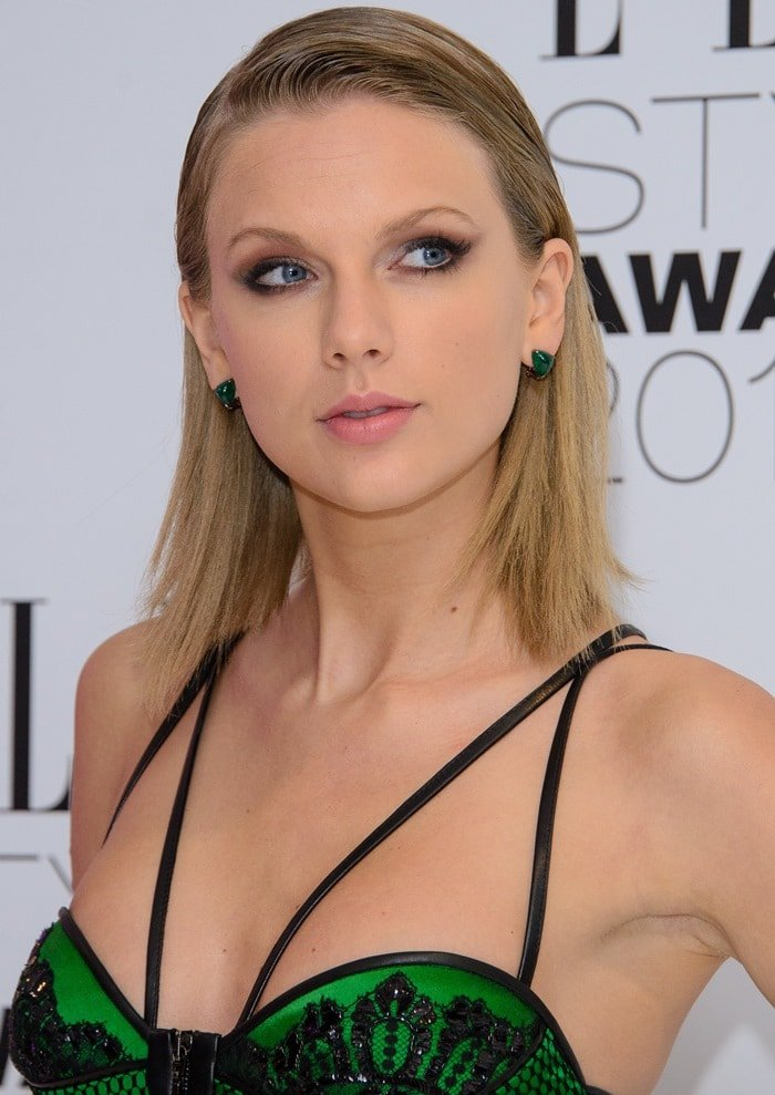 Taylor Swift at the 2015 Elle Style Awards held at Sky Garden at The Walkie Talkie Tower in London on February 24, 2015