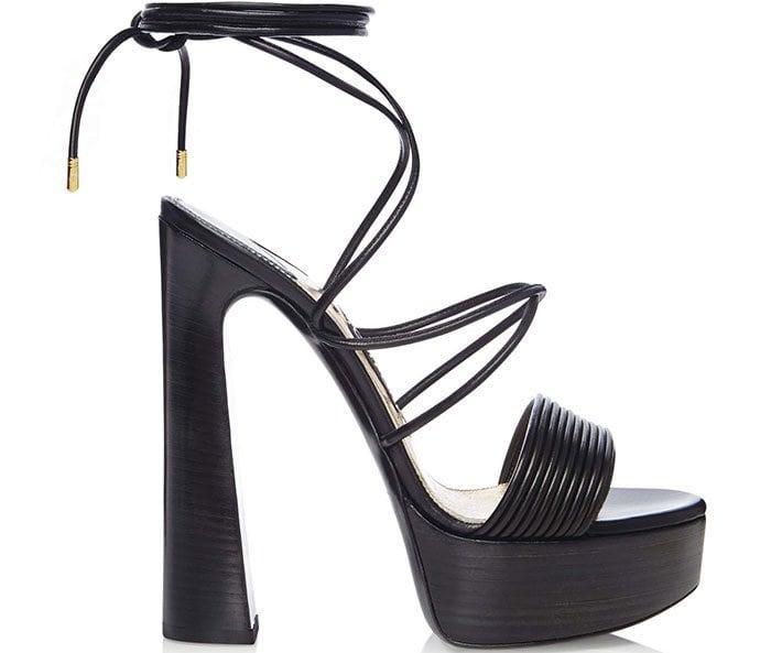 Tom Ford Leather Platform Strappy Sandals
