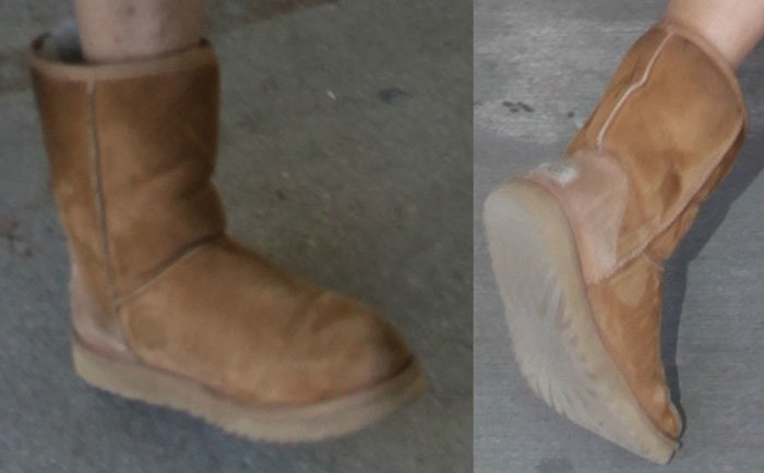 NeNe Leakes showed off her dirty UGG boots