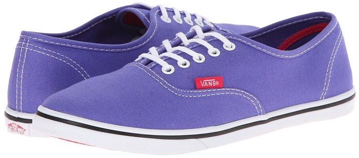Vans Authentic Lo Pro Purple Skate Shoe