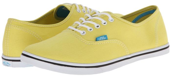 Vans Authentic Lo Pro Yellow Skate Shoe