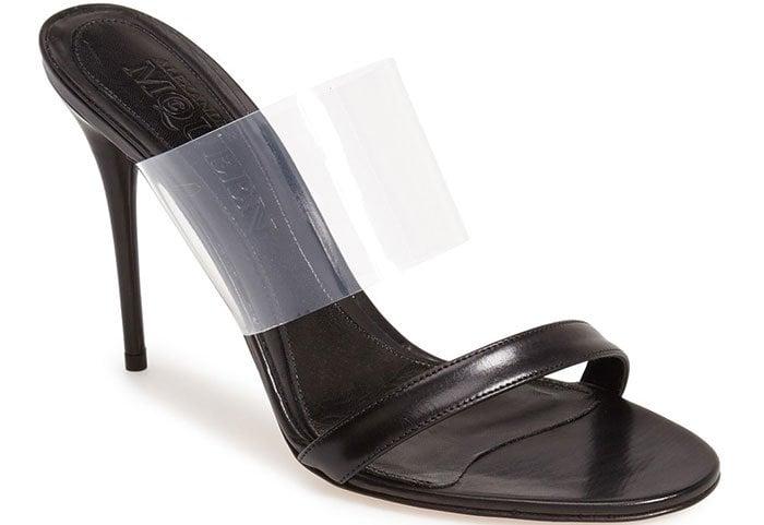 Alexander McQueen Slide Sandals in Black