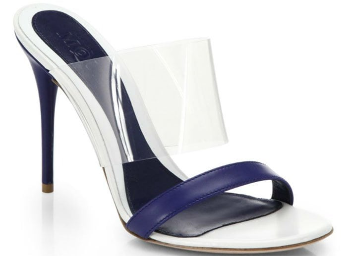 Alexander McQueen Translucent & Leather Slide Sandals