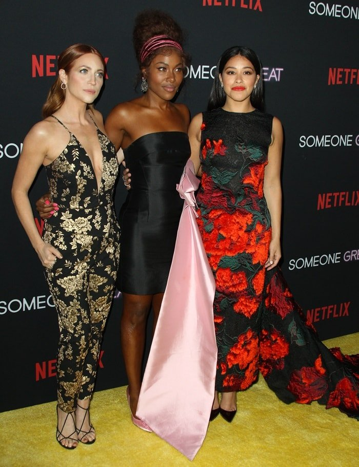 Brittany Snow, DeWanda Wise, and Gina Rodriguez at the Los Angeles special screening of their new Netflix film Someone Great