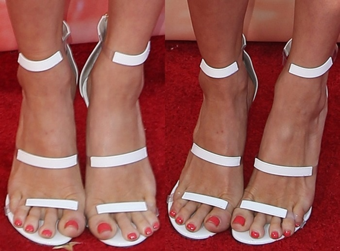 Brittany Snow's hot feet in sandals from Tamara Mellon