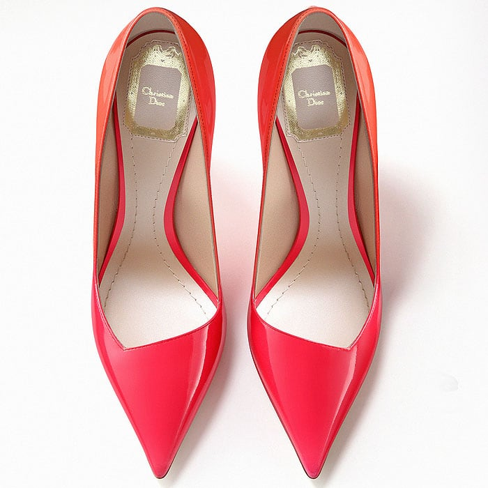 Christian Dior low edge flare heel pumps