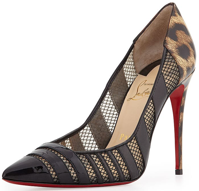 Christian Louboutin Bandy Bandy Pumps in Leopard, Leather, and Mesh