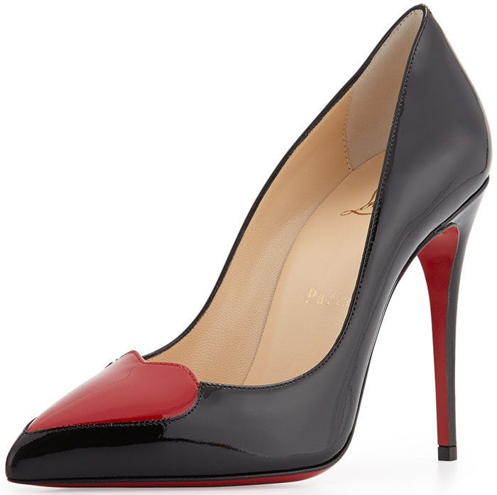 Christian Louboutin Cora Patent Heart Red Sole Pumps