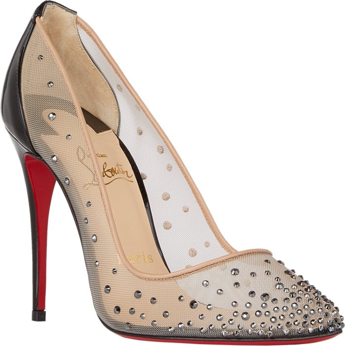 Christian Louboutin Crystal-Embellished Follies Strass Pumps Black