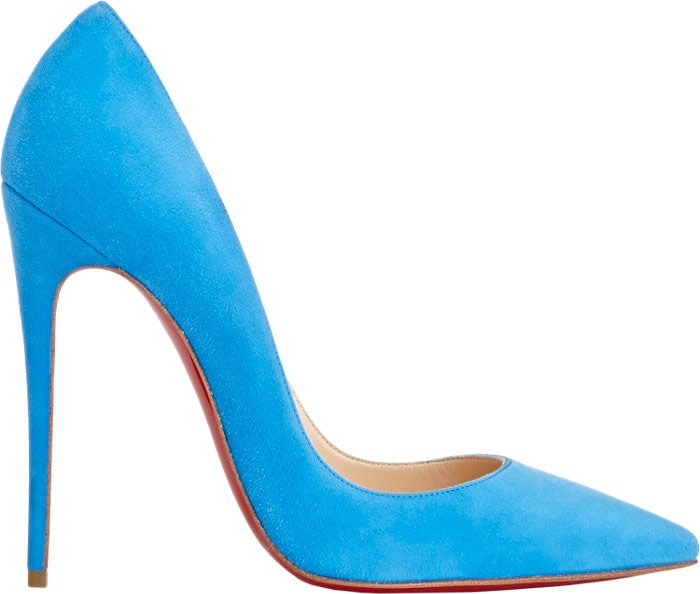 Christian Louboutin So Kate Pumps Blue Suede