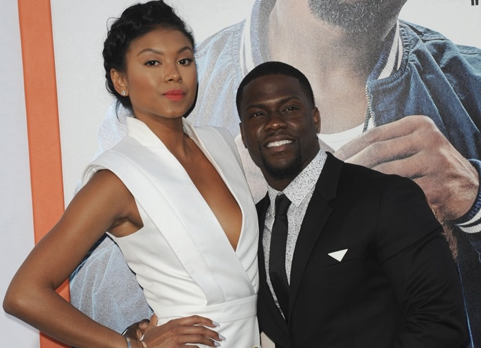 Kevin Hart and Eniko Parrish at the premiere of 'Get Hard' at the TCL Chinese Theatre IMAX in Hollywood on March 25, 2015
