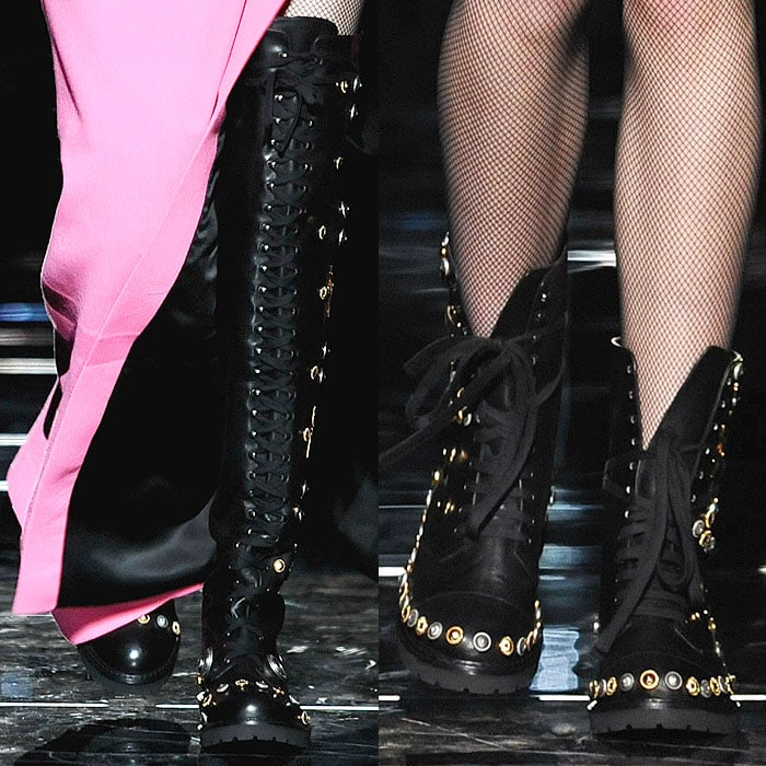 Fausto Puglisi fall 2015 studded combat boots