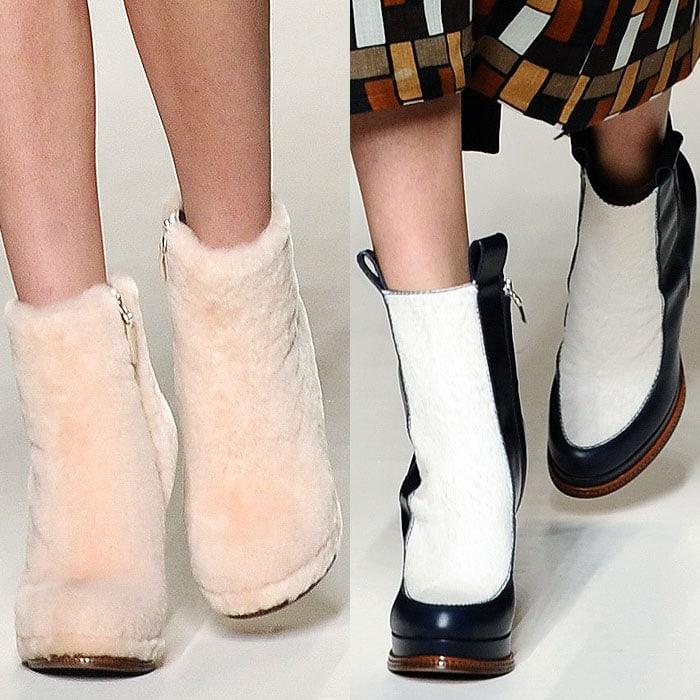 Fendi fall 2015 fur boots