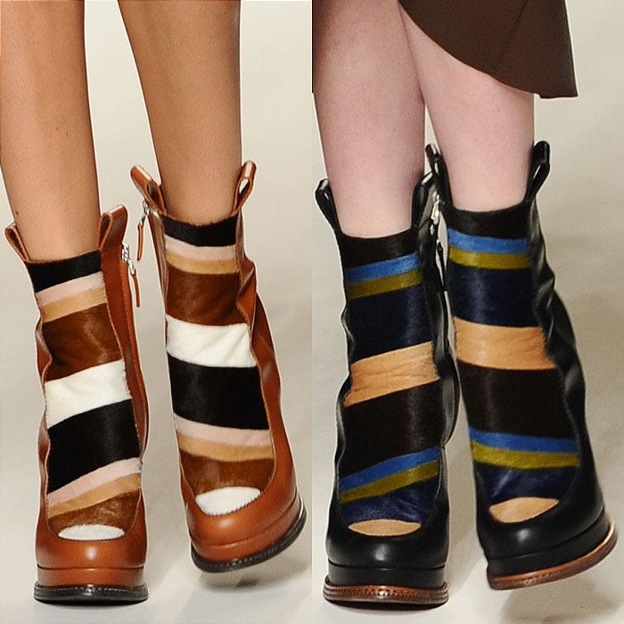 Fendi fall 2015 striped fur boots