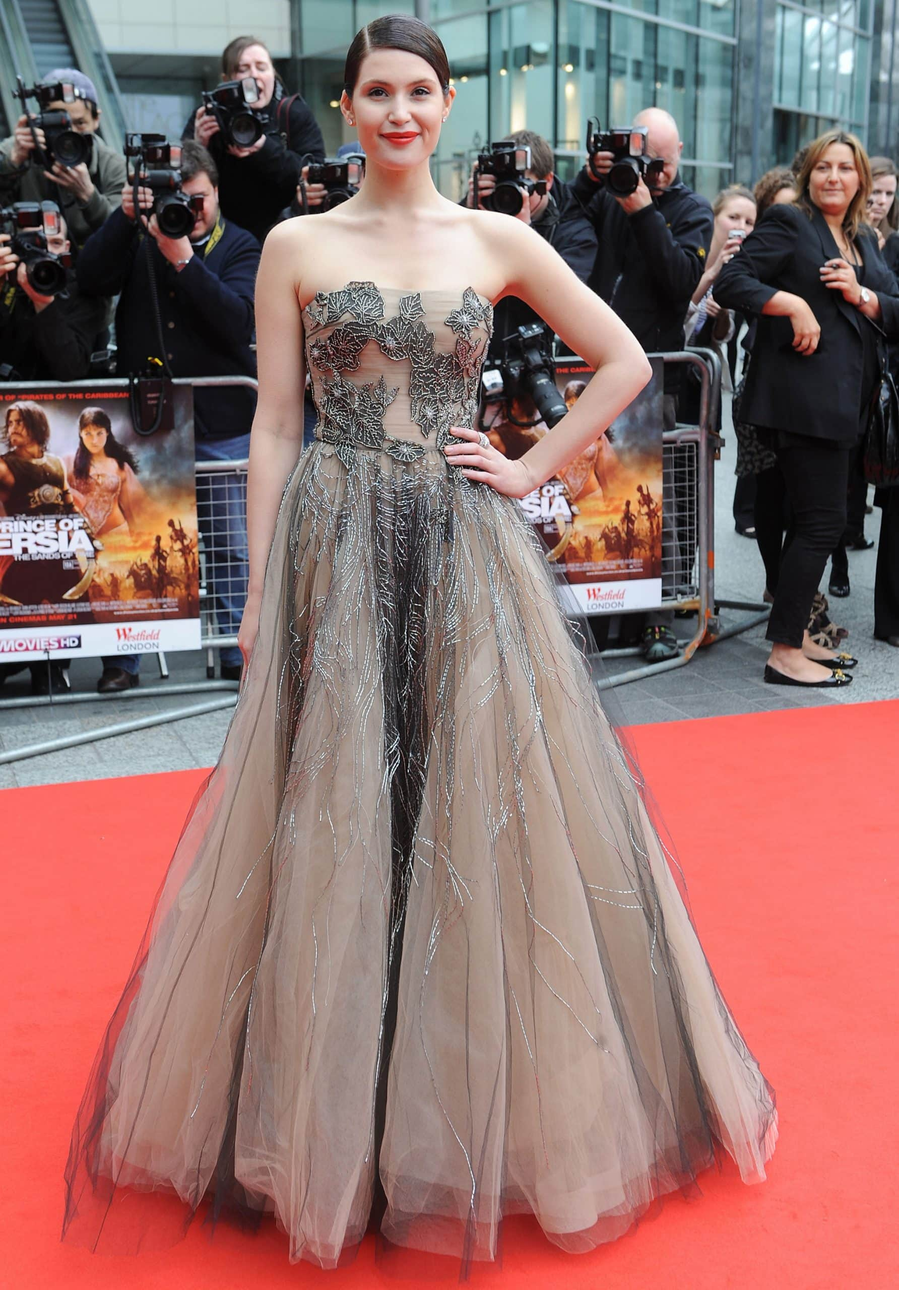 Gemma Arterton wears a strapless Valentino Pre-Fall 2010 ballgown the World Premiere of Disney's 'Prince Of Persia: The Sands Of Time'
