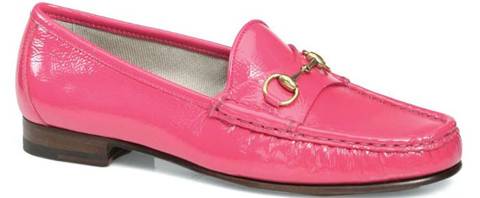Gucci-Patent-Leather-Horsebit-Pink-Loafers