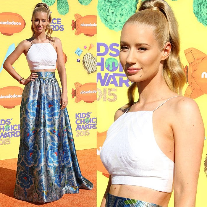 Iggy Azalea at Nickelodeon's 28th Annual Kids' Choice Awards held at The Forum in Los Angeles, California, on March 28, 2015