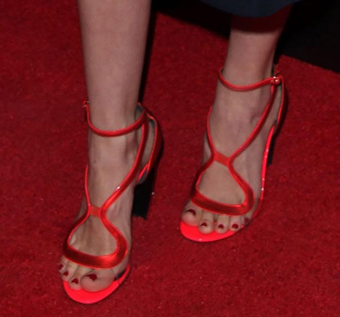 January-Jones-Nicholas-Kirkwood-Red-Strappy-Sandals