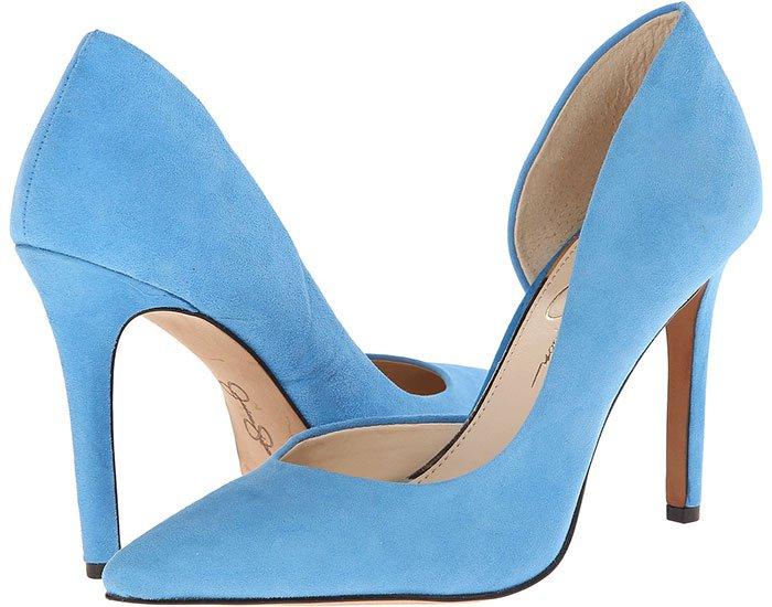 Jessica Simpson Claudette Pumps Blue Suede