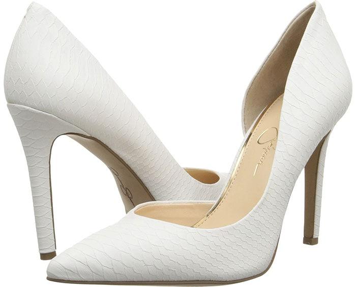 Jessica Simpson Claudette Pumps White Snake