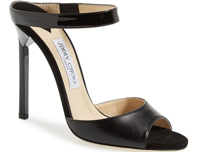 Jimmy Choo Deckle Black Leather Sandals, $795